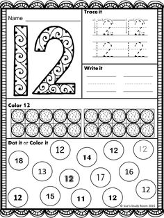 Number Recognition for PreK and K Teaching Numbers, Numbers Preschool, Preschool Lesson Plans, Writing Numbers, Free Preschool, First Grade Worksheets, Alphabet Worksheets, Preschool Worksheets, Preschool Activities