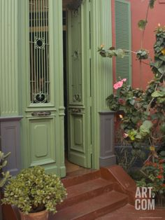 Entrance to House in Barranco Neighborhood, Lima, Peru Photographic Print