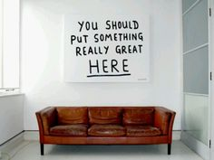 Art 4 fun Interior decoration clever smart idea Wall statement Fancy - Something Great by Ian Stevenson Tutorial Diy, Do It Yourself Projects, Vintage Modern, Vintage Sofa, My New Room, Interiores Design, My Dream Home, Interior Inspiration, Interior And Exterior