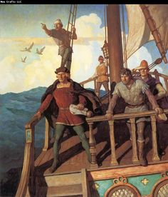 NC Wyeth Columbus Sights the New World