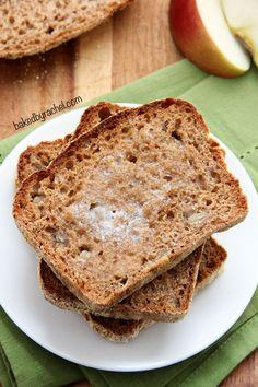 Apple Cinnamon English Muffin Bread Recipe from @bakedbyrachel