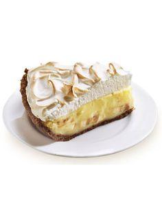 Banana Cream Pie - Silky vanilla custard and sliced ripe bananas form the layers of this heavenly banana cream pie.