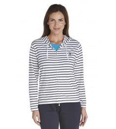 ZnO Cowl Neck Pullover - navy/ white stripe