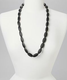 Loving this Teapot Black Teething Necklace on #zulily! #zulilyfinds