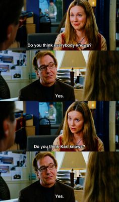 Love Actually Movie - Streaming Love Actually Movie , E Of My Favorite Scenes Laura Linney and Alan Rickman Love Love Actually Movie, Love Movie, Love Actually Quotes, Drame Romantique, Romantic Movie Quotes, Laura Linney, Chick Flicks, Holiday Movie, You Are Perfect