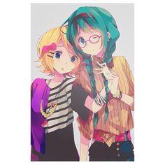 #Vocaloid #Vocaloids #kawaii #hatsune #hatsunemiku #miku #kagamine #kagamineRin #rin #RinXMiku #love