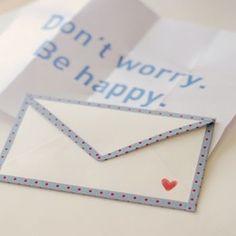 Washi tape trim on an envelope