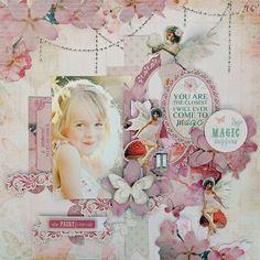 Enchanted Garden with Gillian,Kelly-ann and Trudi Baby Girl Scrapbook, 12x12 Scrapbook, Scrapbook Journal, Scrapbook Sketches, Scrapbook Albums, Scrapbooking Layouts, Mixed Media Cards, Memory Album, Enchanted Garden