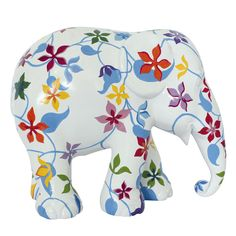 Elephant Parade | 10 cm Sommar | Elephant Conservation | Collectible | Hand Painted | Flowers | www.homearama.co.uk