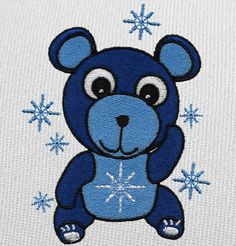 Free Embroidery Design: Snow Bear