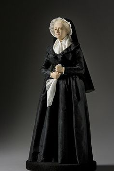 Marie Antoinette as a Widow Doll  Photo courtesy of the Gallery of Historical figures (http://www.galleryofhistoricalfigures)