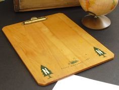 Sold. Camp Navarac 1967 Vintage Wooden Clipboard, Sturdy Spring Clip, Souvenir Camp Navarac Memorabilia, Novelty Letter Size Paper Holder by AgsVintageCove on Etsy