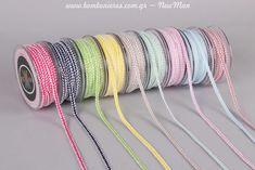 Βαμβακερό κορδόνι Babyland (6mm x 18.2m) σε εννιά διαφορετικά χρώματα. Bangles, Bracelets, Christening, Jewelry, Fashion, Moda, Jewlery, Jewerly, Fashion Styles