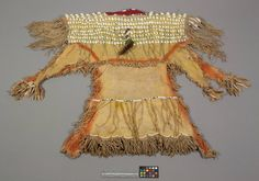 Kiowa dress collected by Mooney.  NMNH  ac