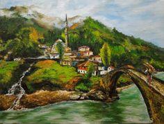 Black Sea, Fırtına Deresi my oil painting