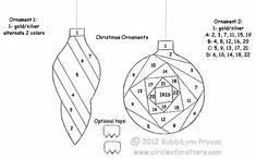 Iris Folding Patterns Free Printables | Iris Folding @ CircleOfCrafters.com: Pair of Ornaments
