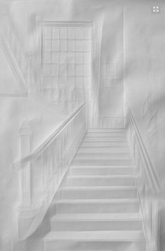 Simon Schubert folds paper to create architectural drawings - Papierarbeiten (Paper work in German)