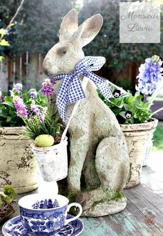 THE FRENCH COUNTRY SPRING COLLECTION - French Garden House Spring is filled with gatherings, and invitations, this collection for the home is filled with inspired decor and gifts with a European flai Hoppy Easter, Easter Bunny, Easter Eggs, Baby Bunnies, Easter Table Decorations, Party Decoration, Easter Centerpiece, Fiestas Party, Seasonal Decor