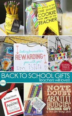 So many fabulous ideas here for back to school teacher gifts!