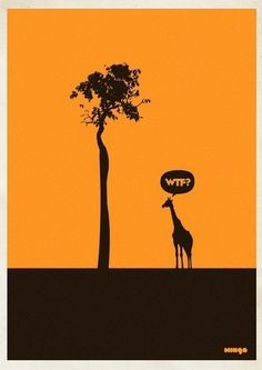 """Argentina-based Minga Creative - Studio came out with a funny and creative posters idea. They called the project """"WTF?"""" and after gaining success had to even make an addition of WTF Creative Illustration, Illustration Art, Geeks, Design Art, Graphic Design, Interior Design, Creative Studio, Creative Pics, Creative Design"""
