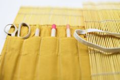 The House That Lars Built.: Placemat paintbrush roll-up holder