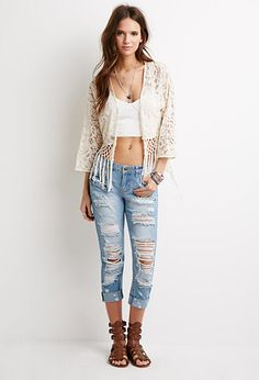 Destroyed Low Rise Jeans from Forever 21 $29,90