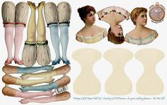 L Doll Set of uncut paper dolls -pastel | Flickr - Photo Sharing!