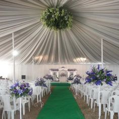 fabric can be used for walls behind the seating of bride and groom