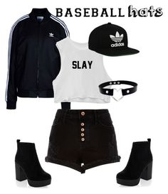"""Untitled #121"" by rushana96 ❤ liked on Polyvore featuring adidas Originals, River Island, New Look, baseballcap and baseballhats"