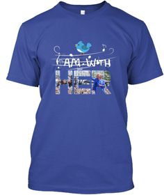 I Am With Deep Royal T-Shirt Front