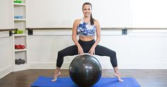 Grab a Stability Ball for This Lower-Body Barre Fusion Workout