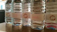 Agua para los invitados al babyshower de Victoria