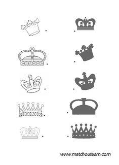 Match the shape. Preschool Curriculum, Preschool Activities, King Josiah, Chateau Moyen Age, King Solomon, Free Frames, Bible Stories, Winter Activities, Line Drawing