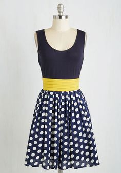Lesson Closely Dress. Deliver your lecture to a rapt audience in this lovely, navy-blue dress! #blue #modcloth