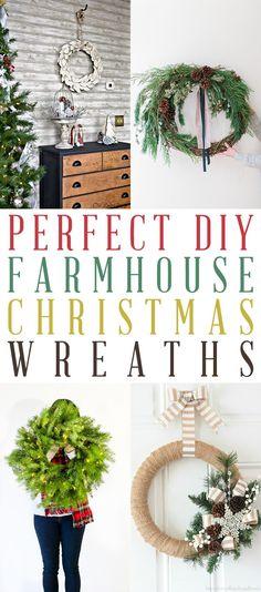 Perfect DIY Farmhouse Christmas Wreaths