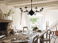 Rustic dining room, Discover home design ideas, furniture, browse photos and plan projects at HG Design Ideas - connecting homeowners with the latest trends in home design & remodeling White Bedroom Furniture French, French Country Furniture, White Furniture, Wood Furniture, French Country Dining, Country Dining Rooms, Rustic French, Bedroom Country, French Kitchen