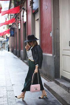 Culotte de raso verde