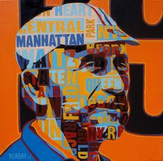 Fred Lebow Portrait Painting by Borbay