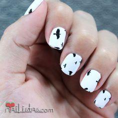 Flying Birds on white background of nails