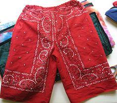Day Bandana shorts for kids.Bandana shorts for kids. Sewing Projects For Kids, Sewing For Kids, Sewing Ideas, Sewing Crafts, Sewing Patterns, Toddler Outfits, Kids Outfits, Bandana Crafts, Pants Tutorial