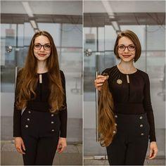 Hair Transformation, Cut Off, Bob Cut, Bob Hairstyles, Bobs, Ponytail, Hair Cuts, Hair Styles, Women