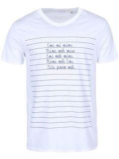 ZOOT Originál - Bílé pánské triko  Máma mele Emu - 1