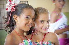 Los rostros de las pequeñas bailarinas