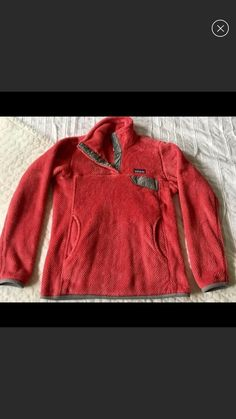 Patagonia Re-Tool Snap T Fleece in RARE beautiful coral pink fleece with grey trim. Size XS. EUC. No damage, and looks and feels just like the one I bought new. Bought on here and wore a few times but realized I just can't pull off pink! Super cozy and warm. Patagonia Fleece Jacket, Grey Trim, Coral Pink, Feels, Cozy, Warm, Pullover, Times, Sweaters