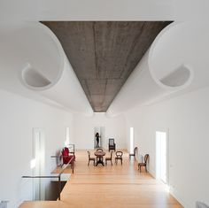 Interior Architecture: Magnificent, bold ceiling detail creates a sense of wonder and interest.  Casa Fez house in Portugal, designed by architect Álvaro Leite Siza Vieira