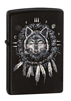 Pretty! Wolf dreamcatcher zippo