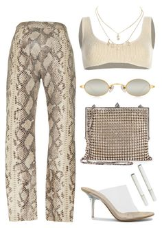 """Snakeskin"" by sexdrugsnprada ❤ liked on Polyvore featuring Zeynep Arçay, Yeezy by Kanye West, Charlotte Russe and Yves Saint Laurent"