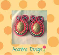 #earrings #soutache #zarcillos Washer Necklace, Jewelry, Design, Fashion, Ear Studs, Jewellery Making, Moda, Jewelery