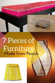You can do more than write with pencils! Check out these creative pieces of furniture made from pencils. #GrammarGirl