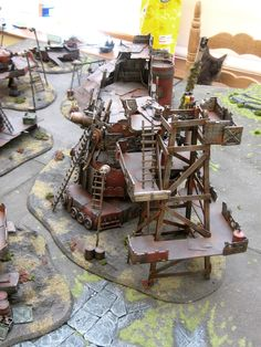 George Dellapina's Ork Gargant Assembly Site Terrain [Very pic heavy] - Forum - DakkaDakka | One Snotling on the Pump Wagon of the internet.